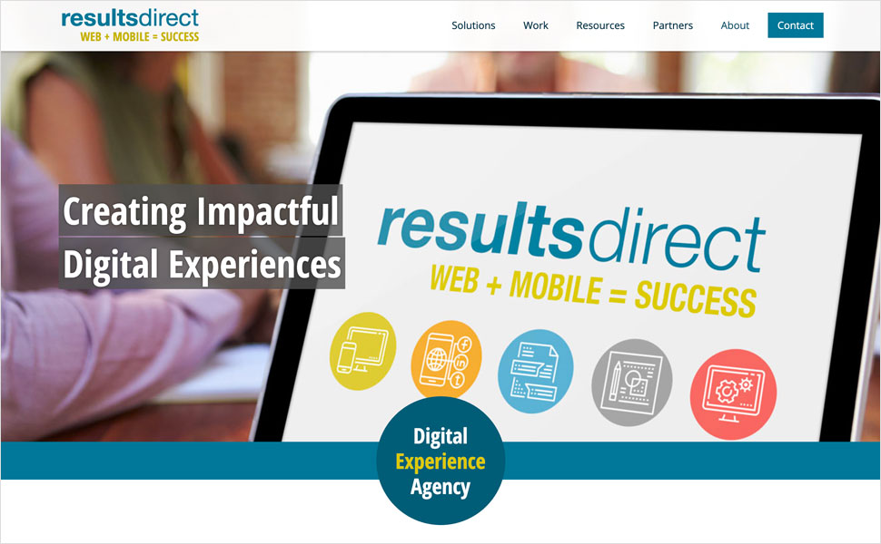 Results direct website - before