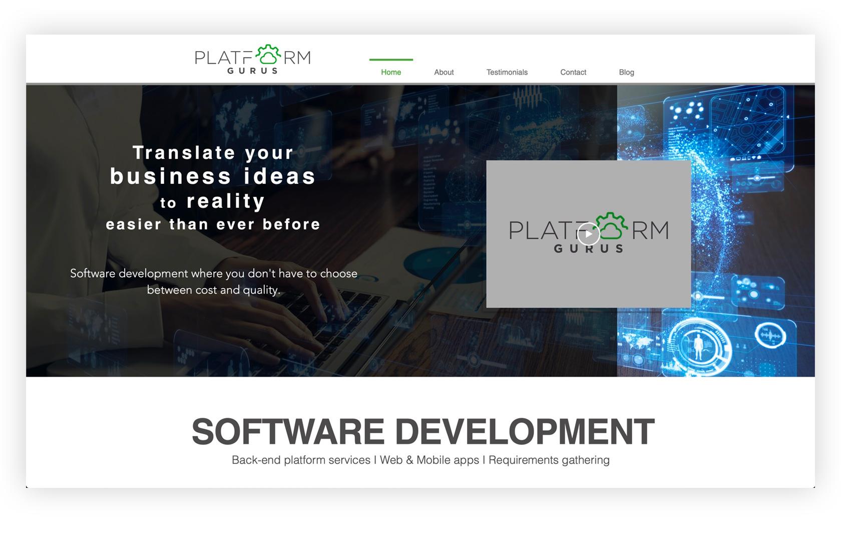 Platform gurus homepage
